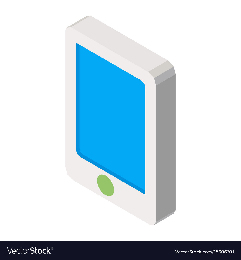 Mobile phone three dimensional business icon