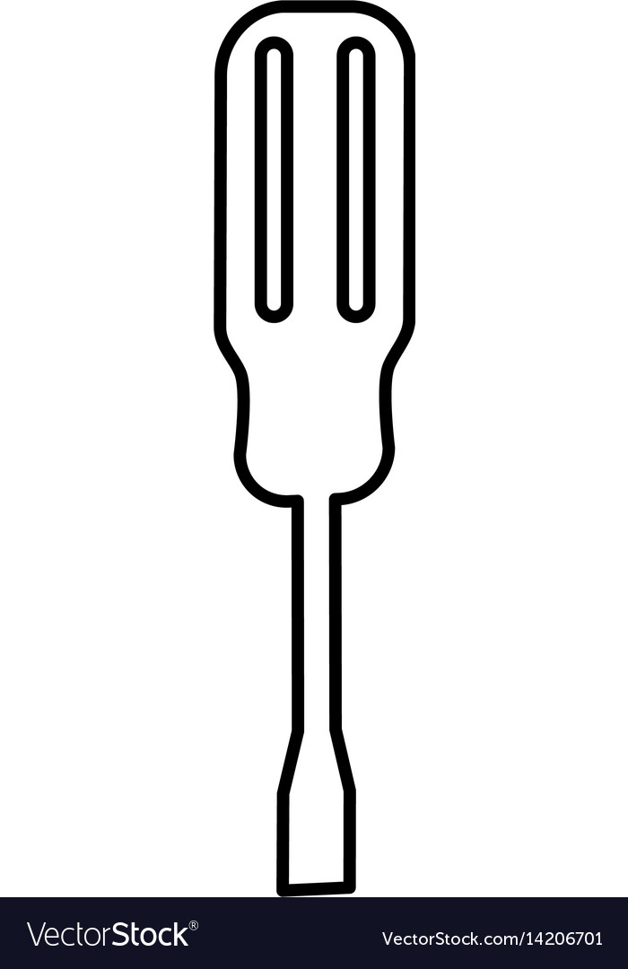 Screwdriver construction tool icon