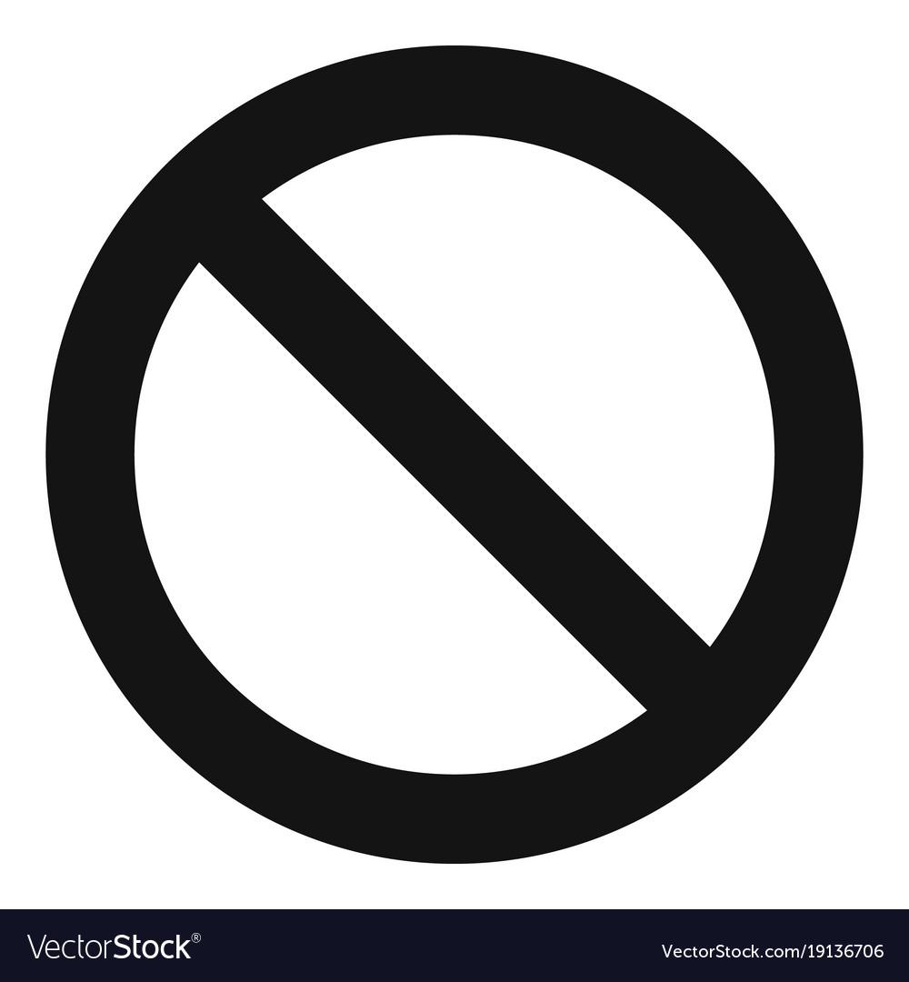 Cursor stop element icon simple black style