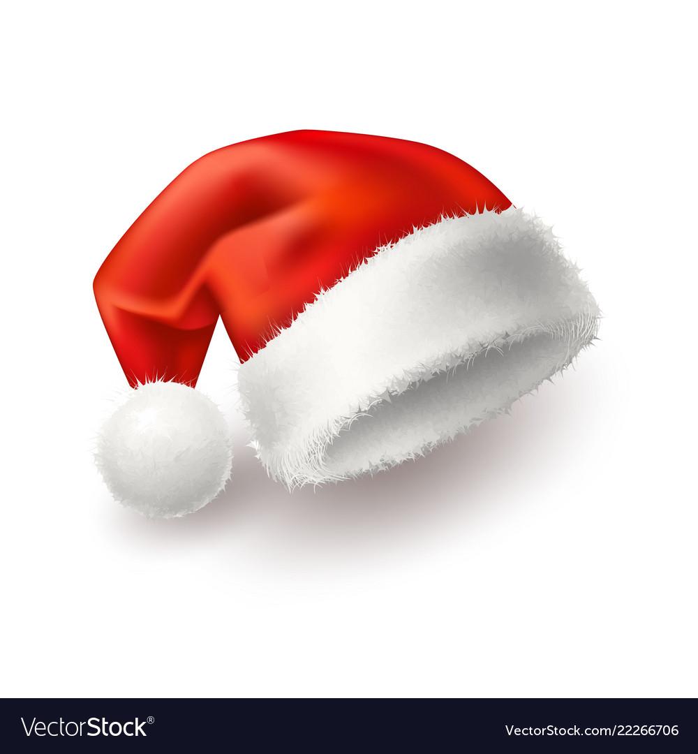 Realistic santa christmas holiday 3d hat