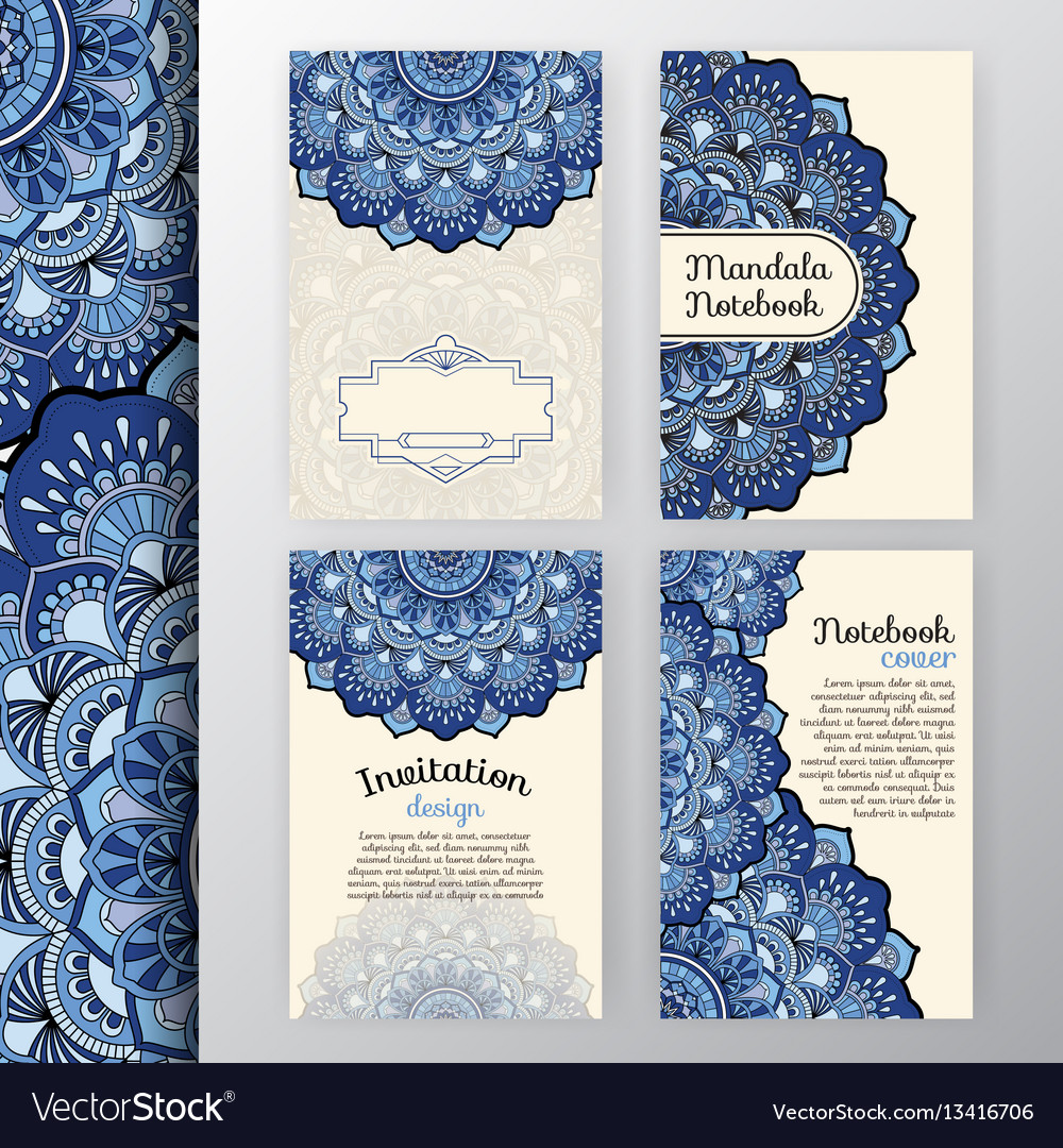 Set of vintage invitation and background design