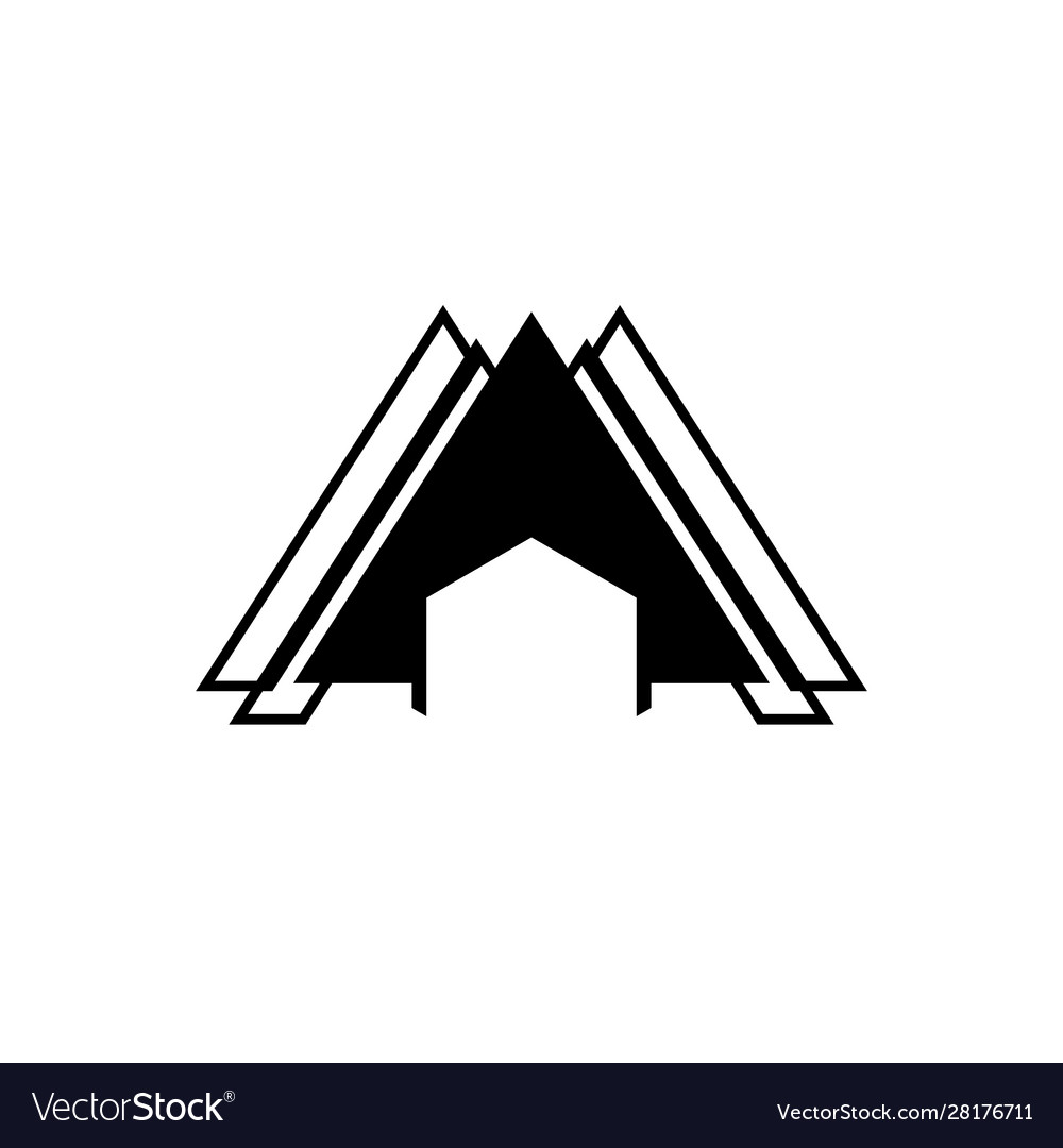 Abstract architecture logo concept with simple