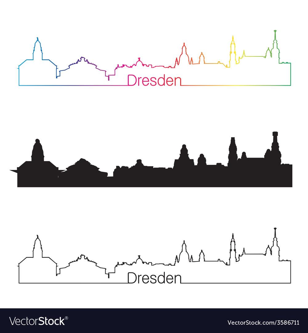 Wunderschön Skyline Dresden Sammlung Von