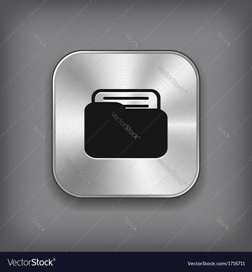 Folder icon - metal app button