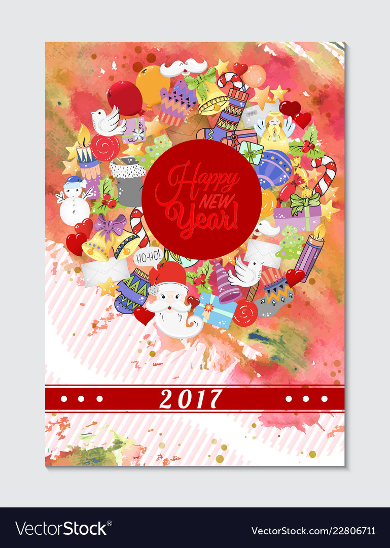 Merry christmas pattern for holiday greeting cards