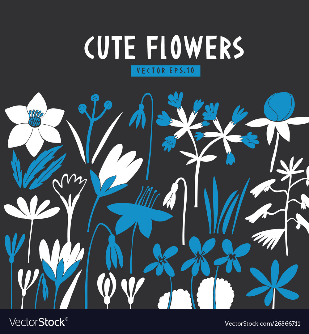 Modern flowers design template scandinavian style