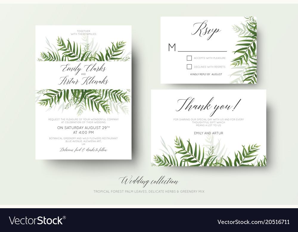 Wedding Invites Pinterest: Wedding Invitation Rsvp Thank You Cards Floral Set