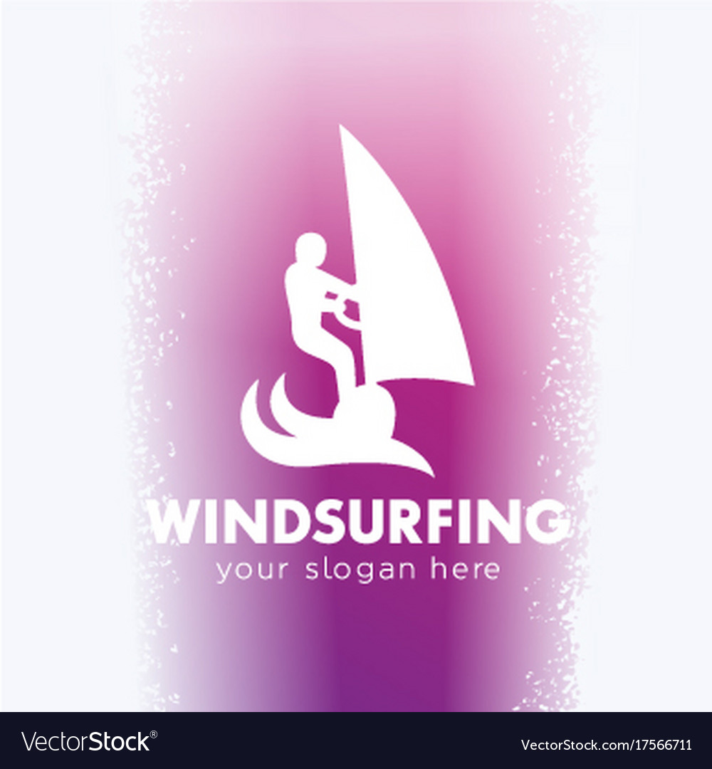 Windsurfing logo windsurfer icon vector image