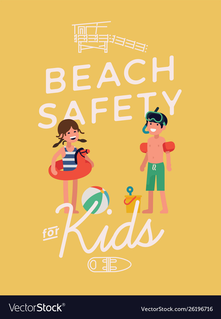 Beack safety for kids poster template