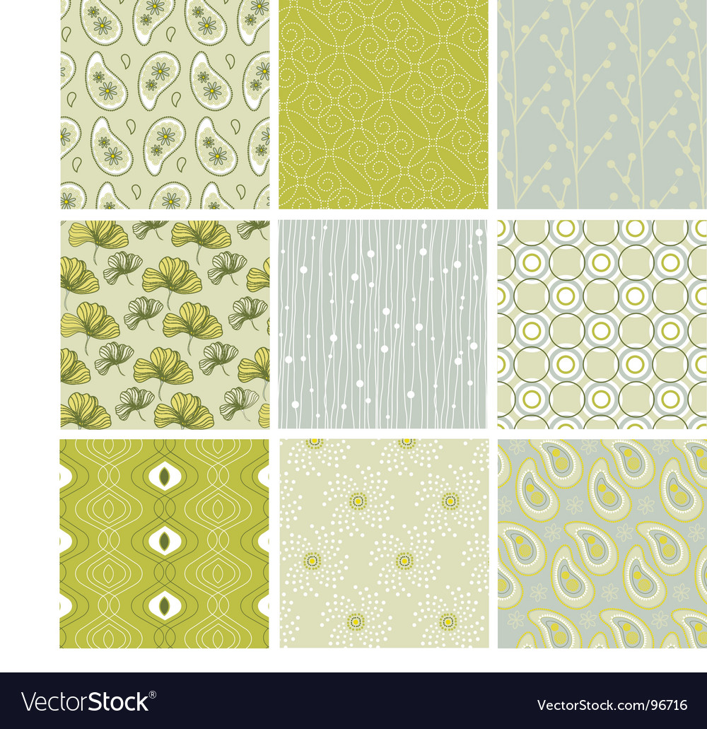 Nature patterns vector