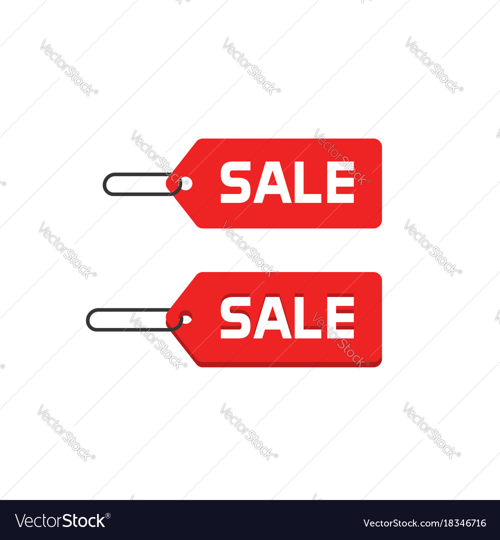sale badge icon flat design discount tag vector image