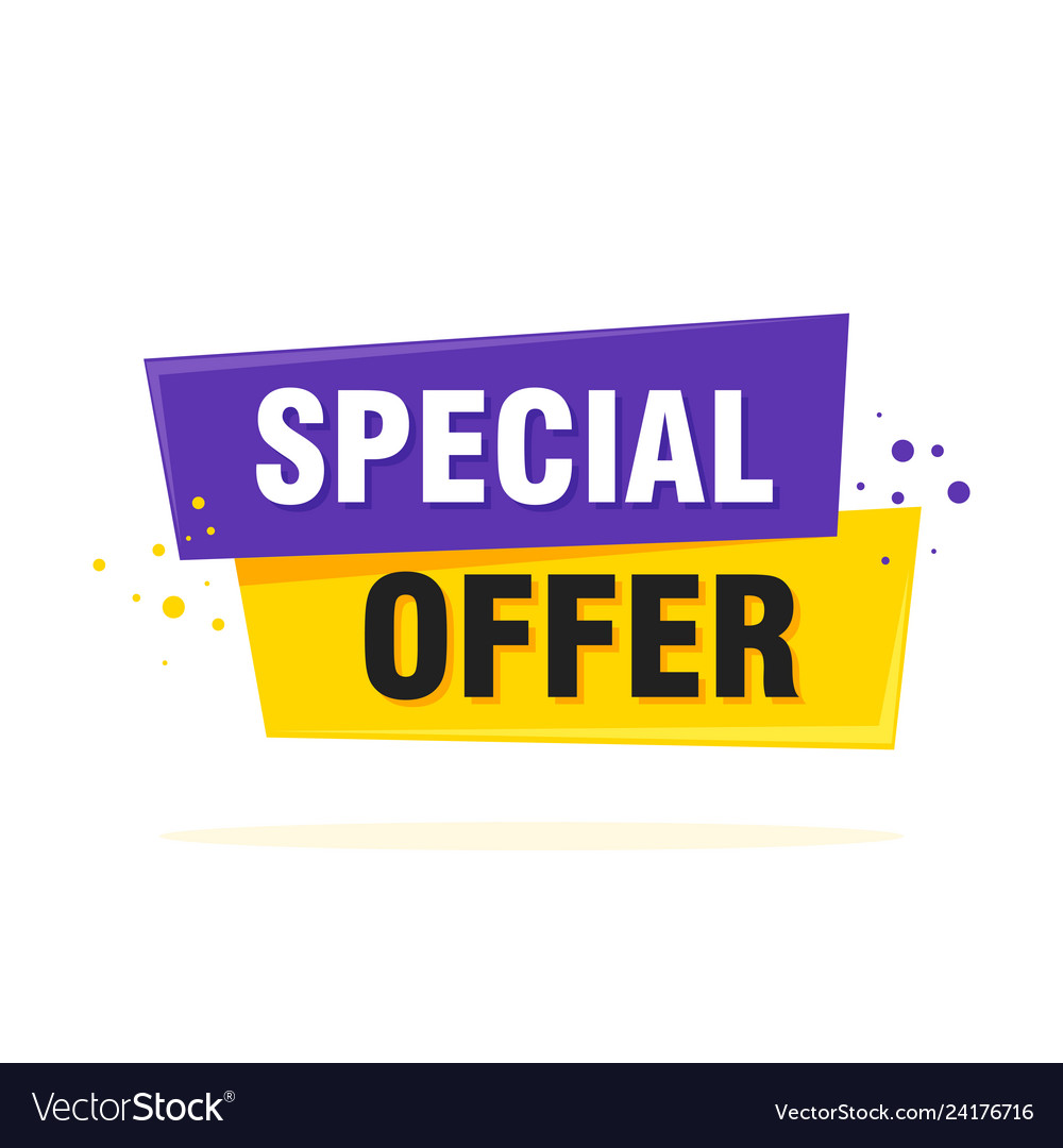 Special offer sale tag discount symbol retail