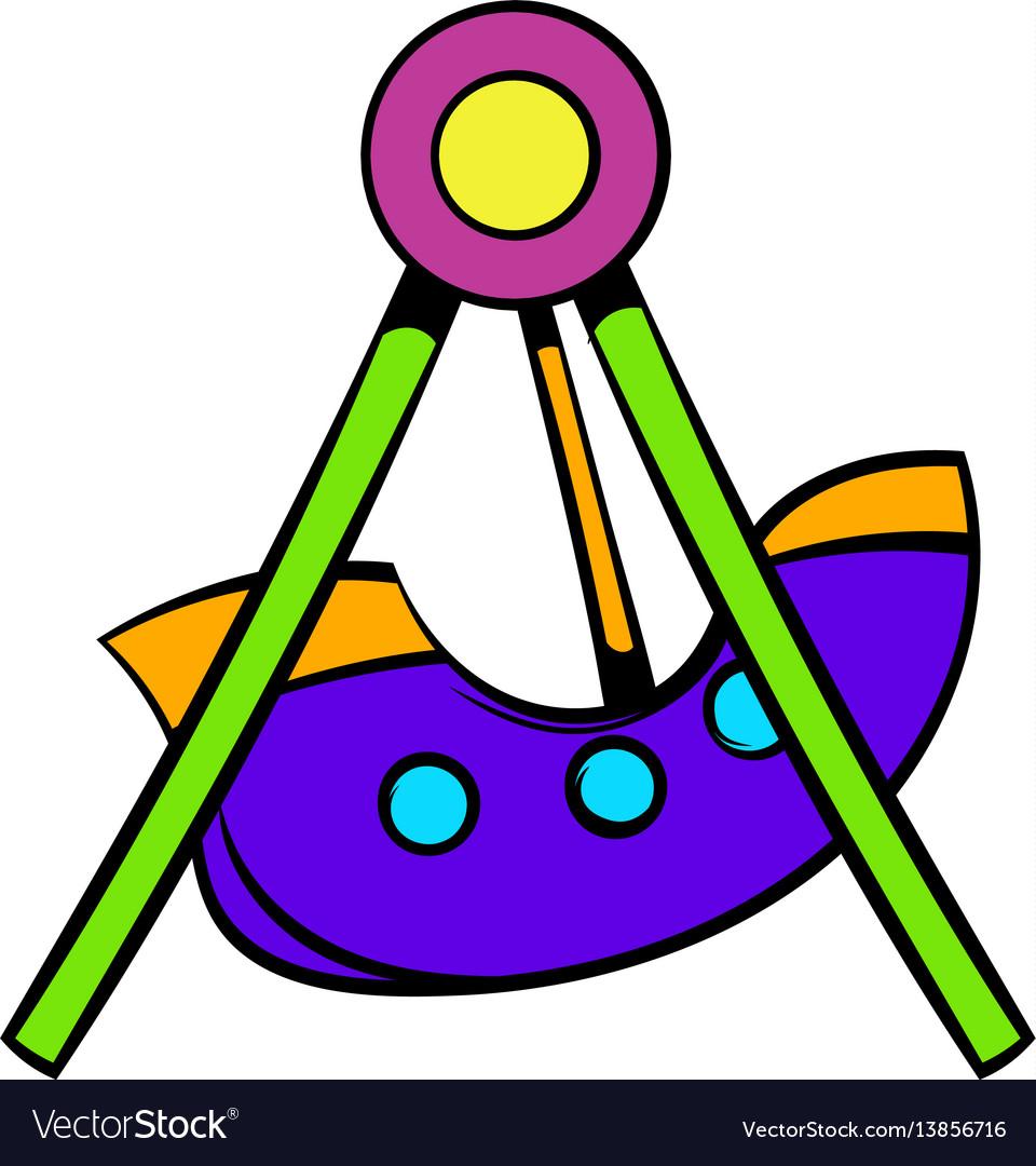 Swing icon icon cartoon vector image