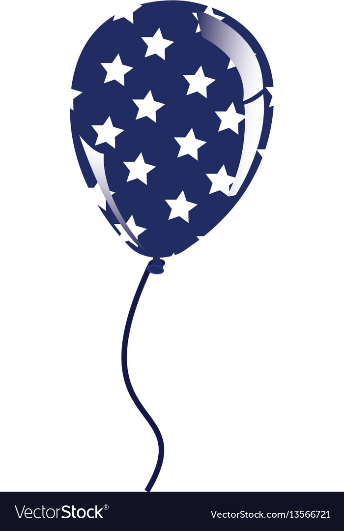 Balloon with stras independece day icon vector image