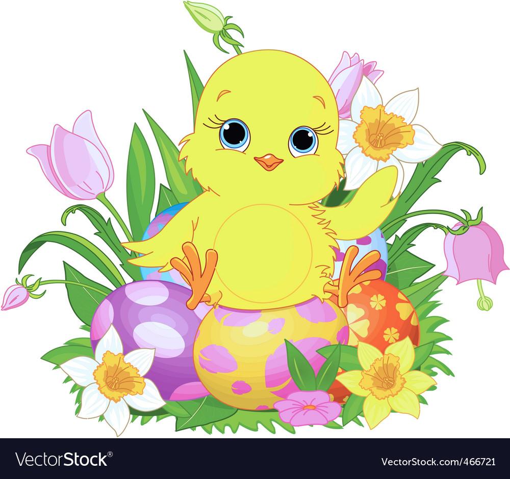 easter chick vector art download easter vectors
