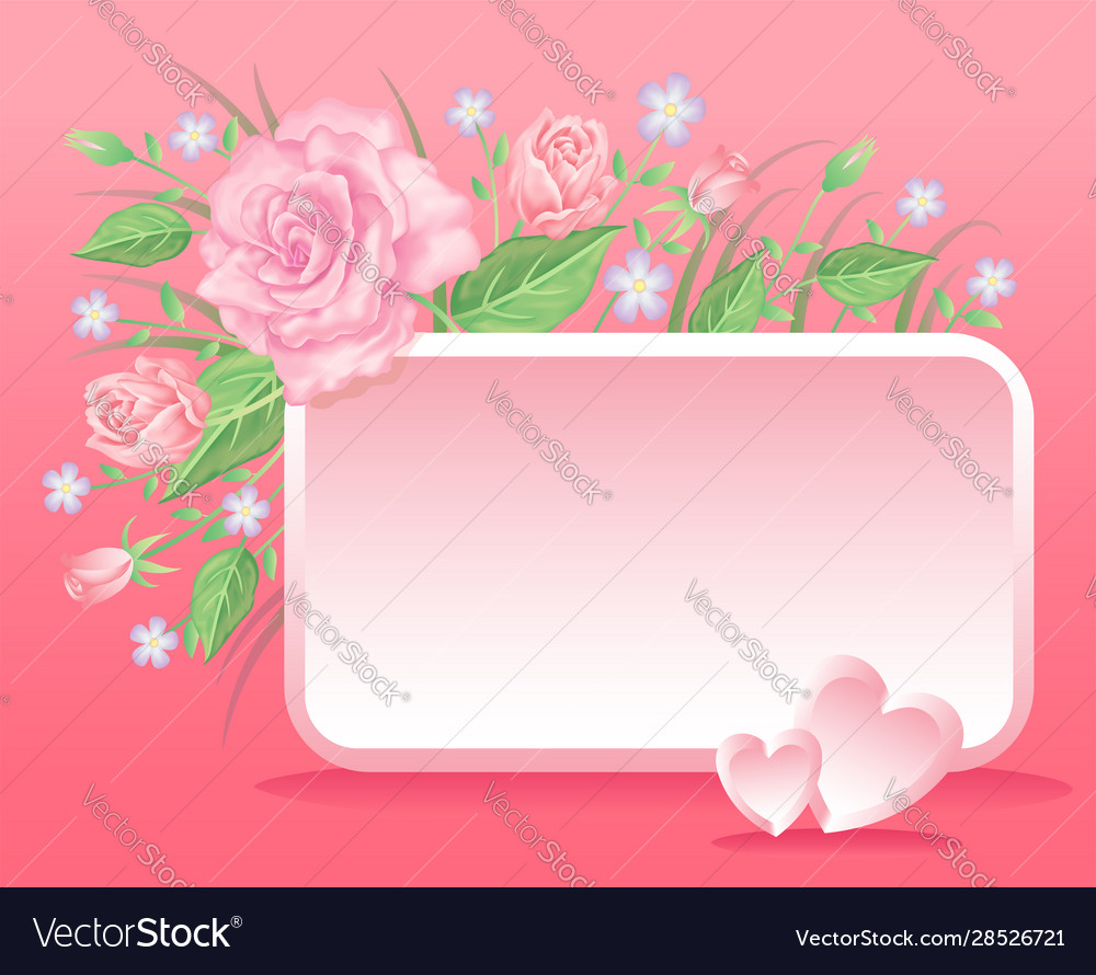 Floral colorful and beautiful rose flowers and lea