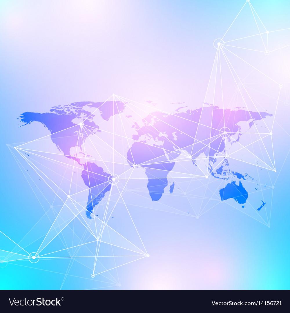 Geometric graphic background communication big vector image