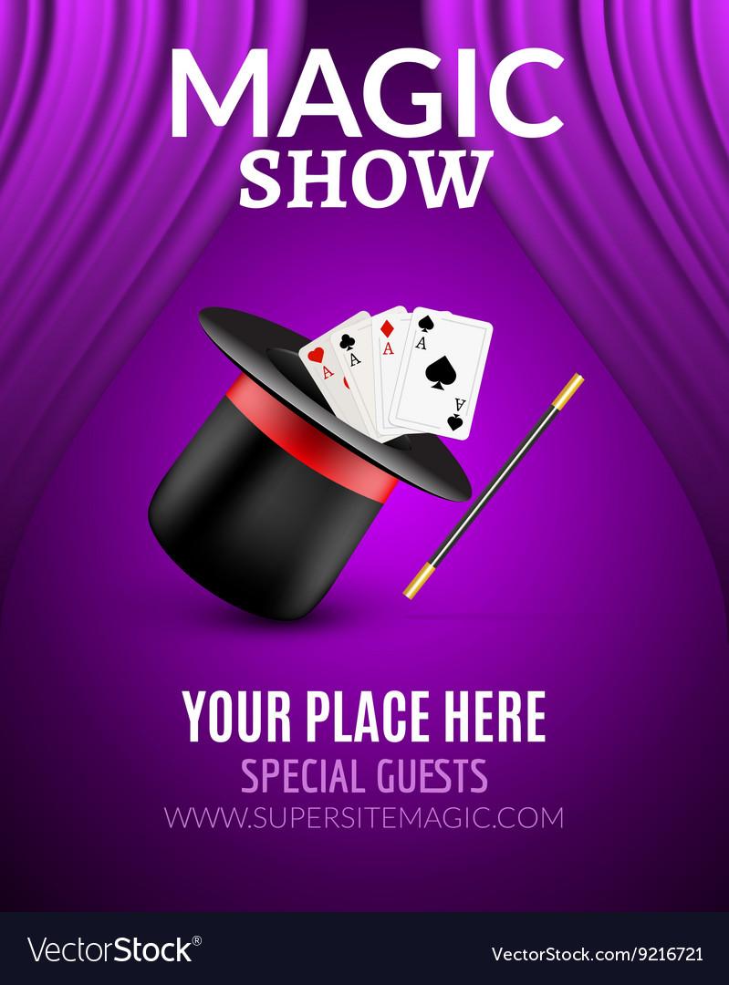 Magic Show poster design template Magic show