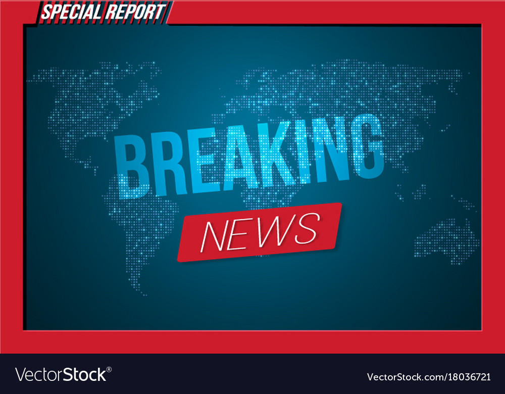 news banner template breaking news design layout vector image