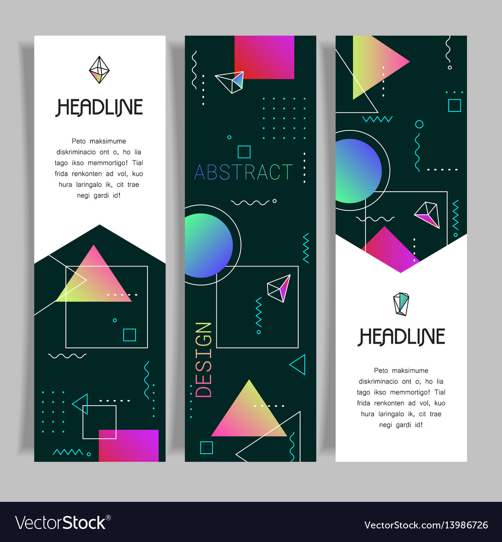 Abstract polygonal design banners templates
