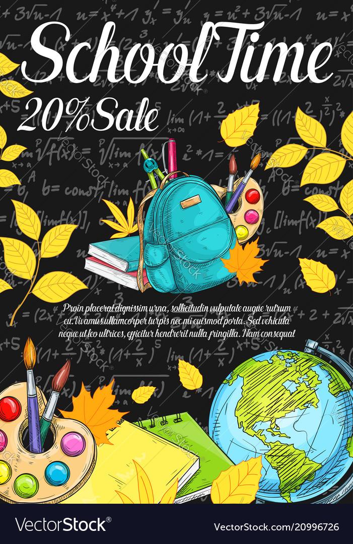 Back to school sale sketch chalkboard