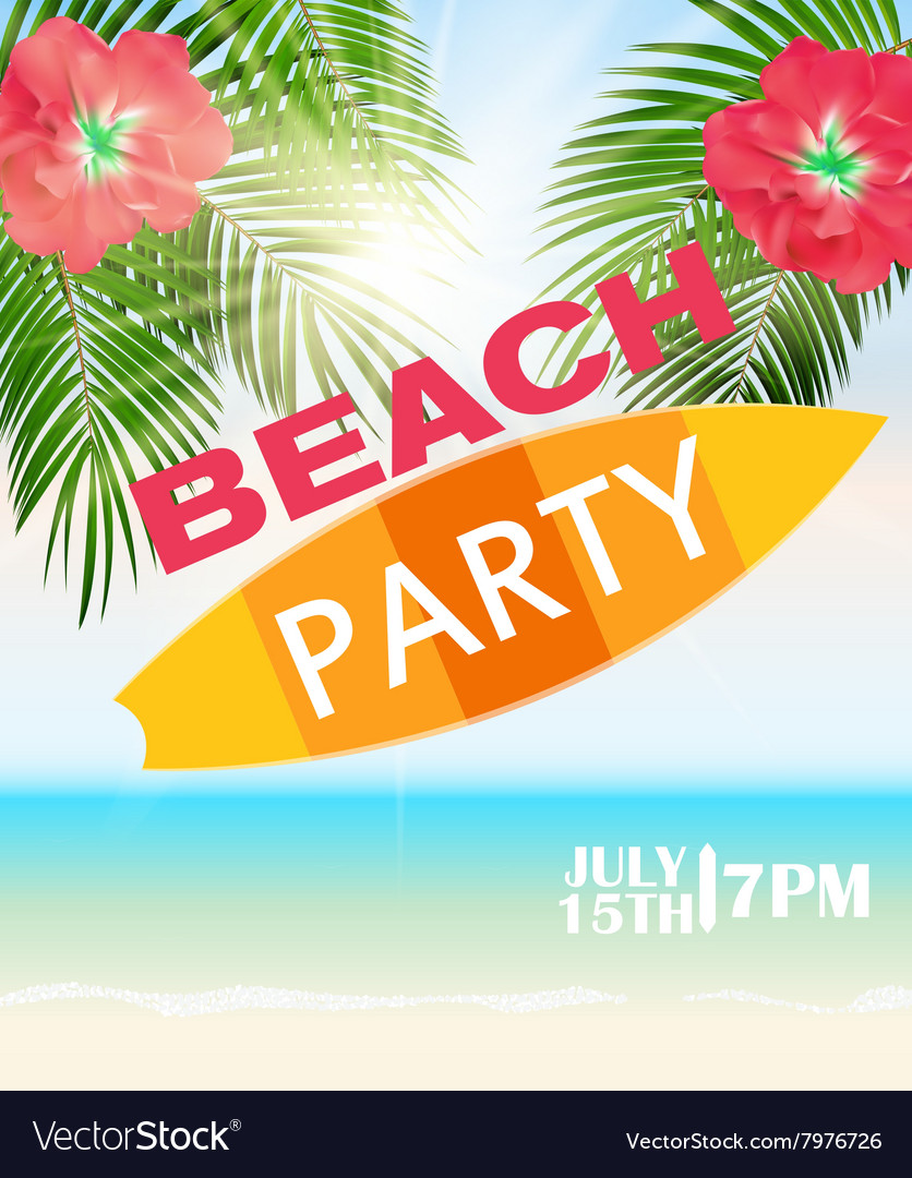 Beach Summer Party Poster