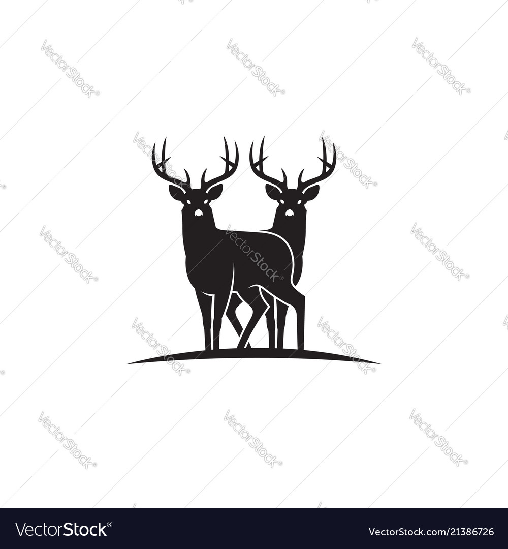 Black deer emblem