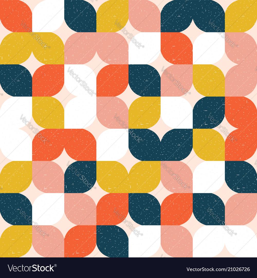 Colorful geometric seamless pattern retro style