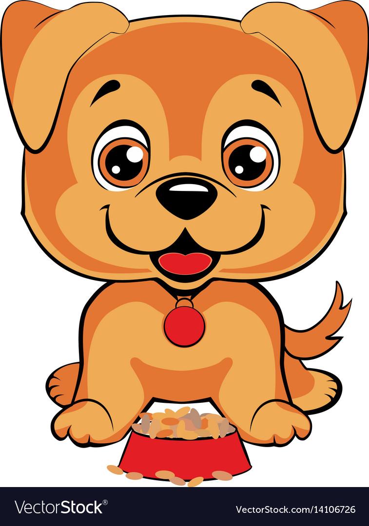 Cute cartoon dog children s funny royalty free vector image cute cartoon dog children s funny vector image voltagebd Images