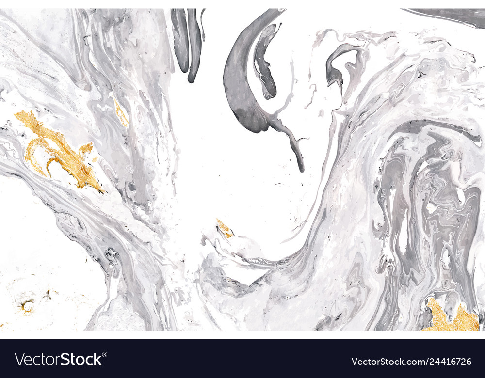 Gray Gold And White Marble Texture Royalty Free Vector Image