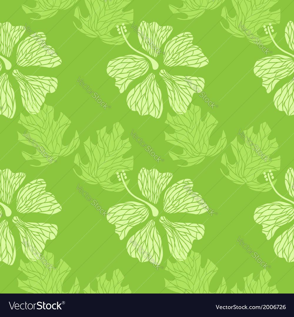 Hibiscus pattern lime