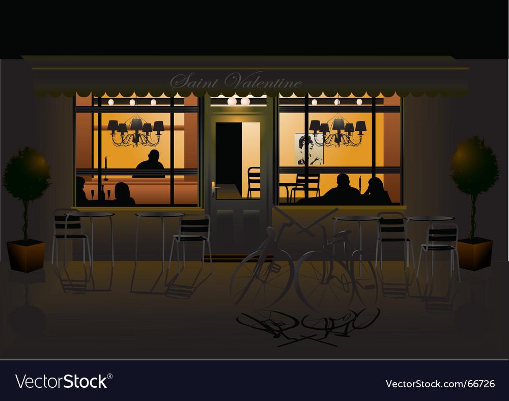 Romantic evening vector image