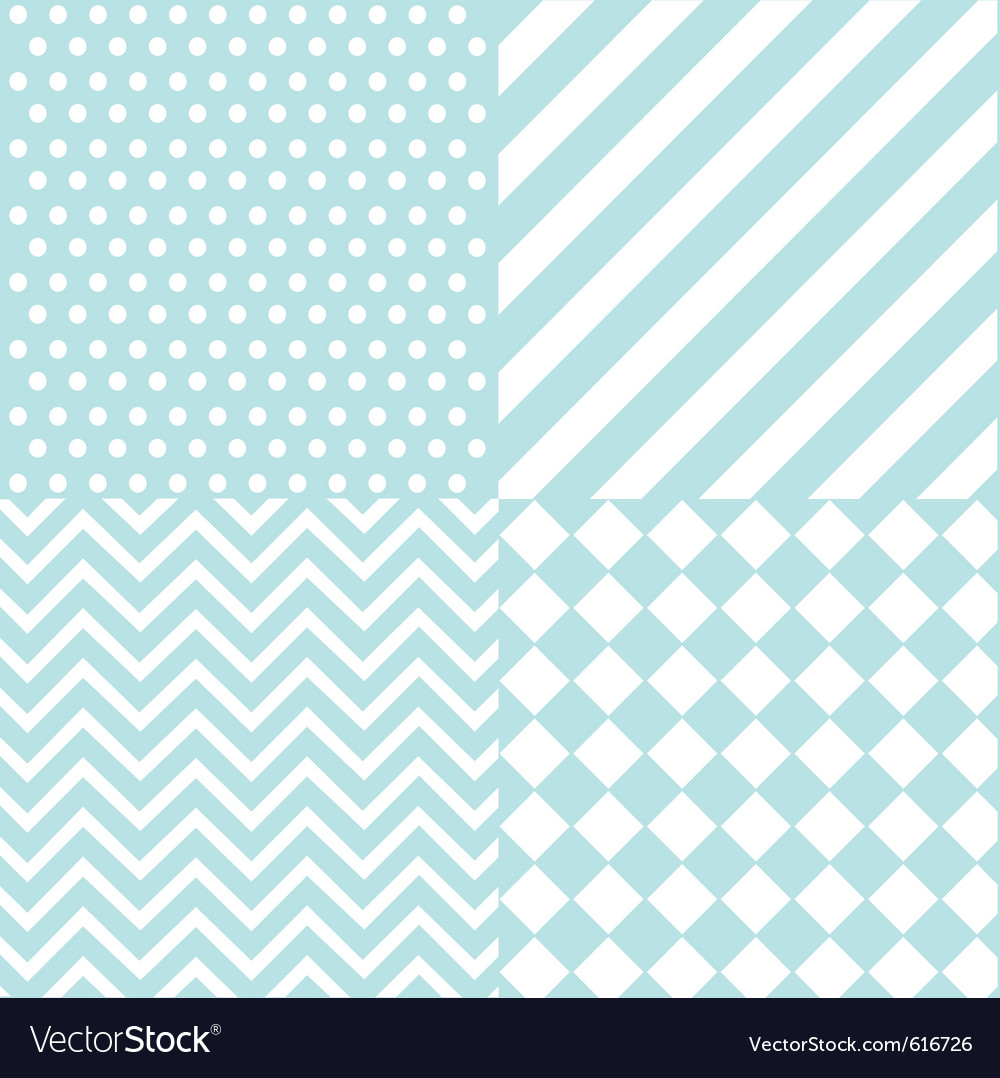Seamless baby boy pattern vector image
