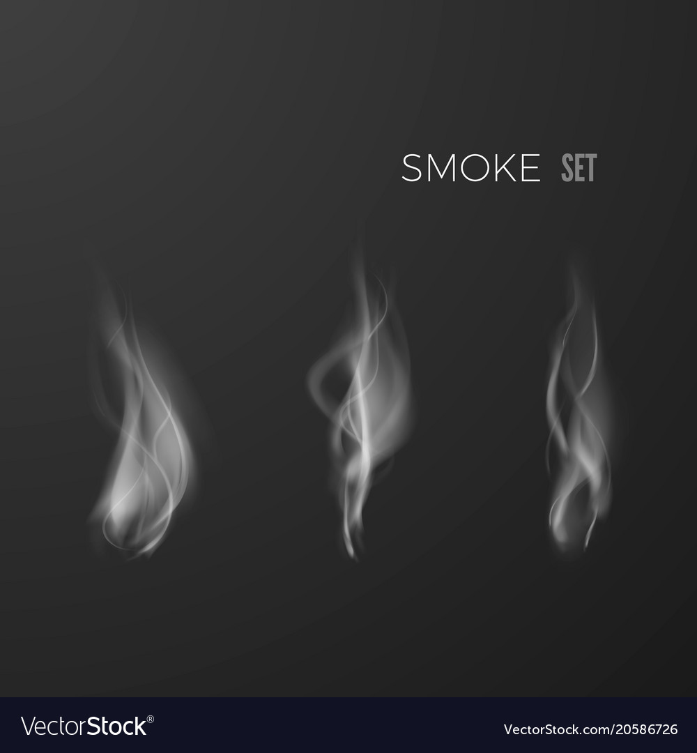 smoke set isolated on dark background template of vector image