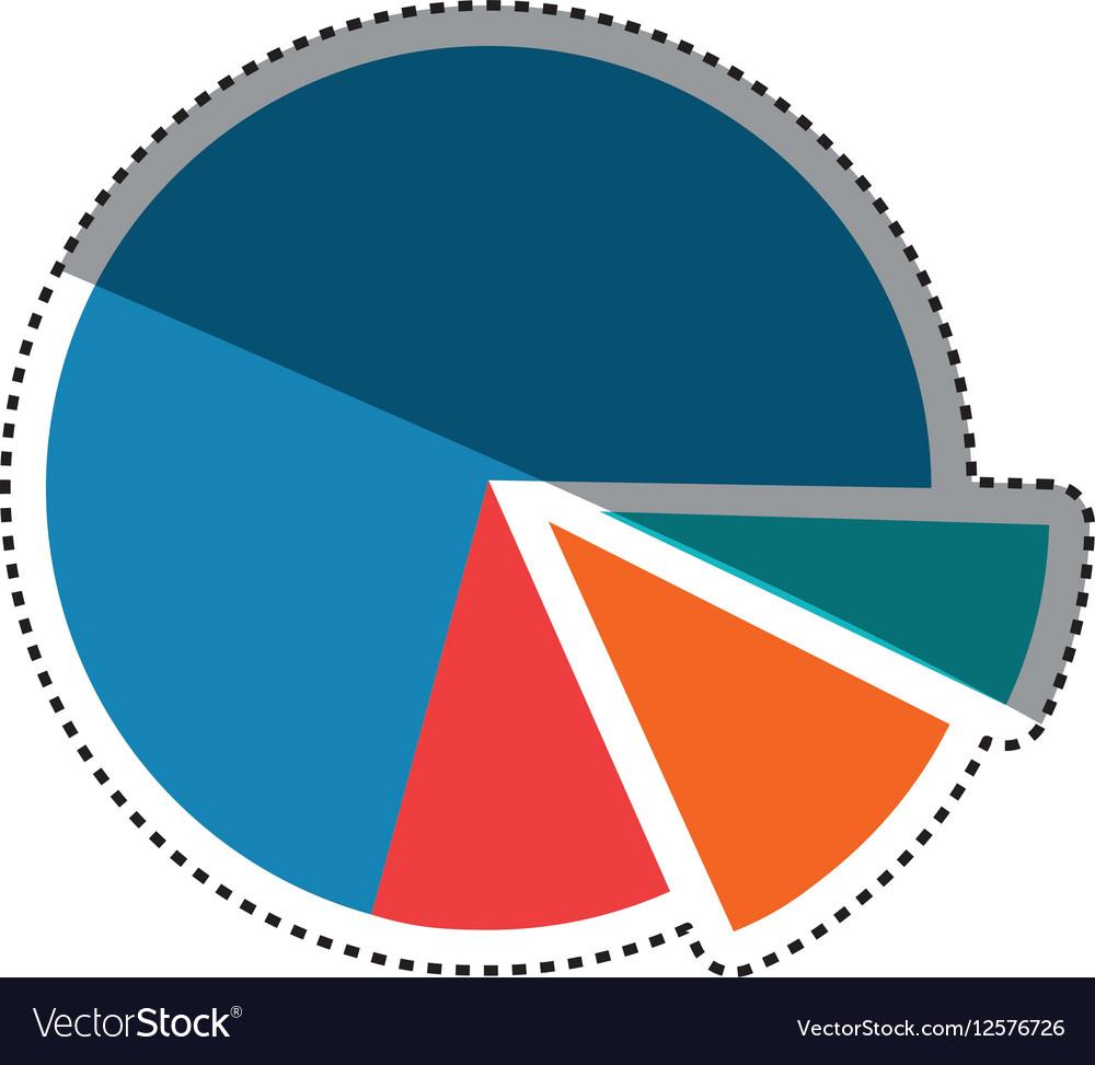 statistics pie chart royalty free vector image rh vectorstock com vector pie chart maker vector pie chart diagram