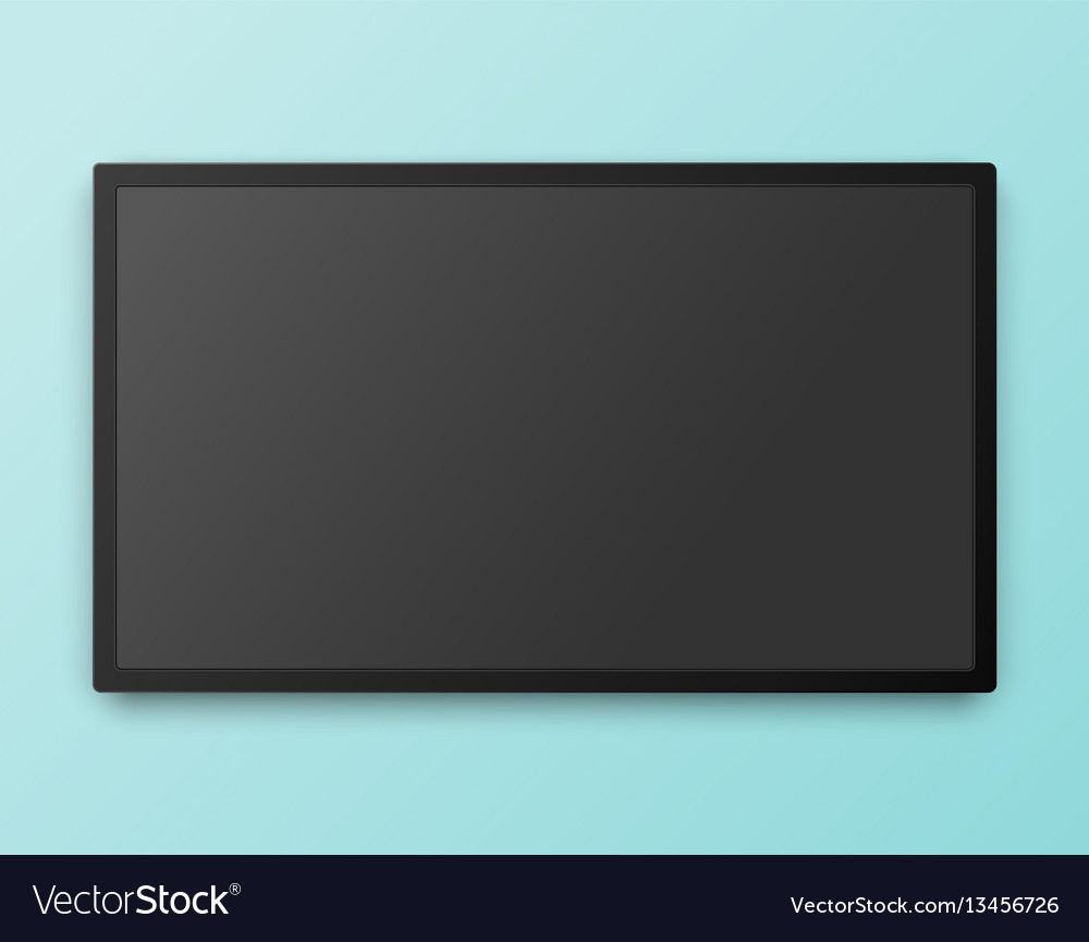 Tv screen template with empty screen high
