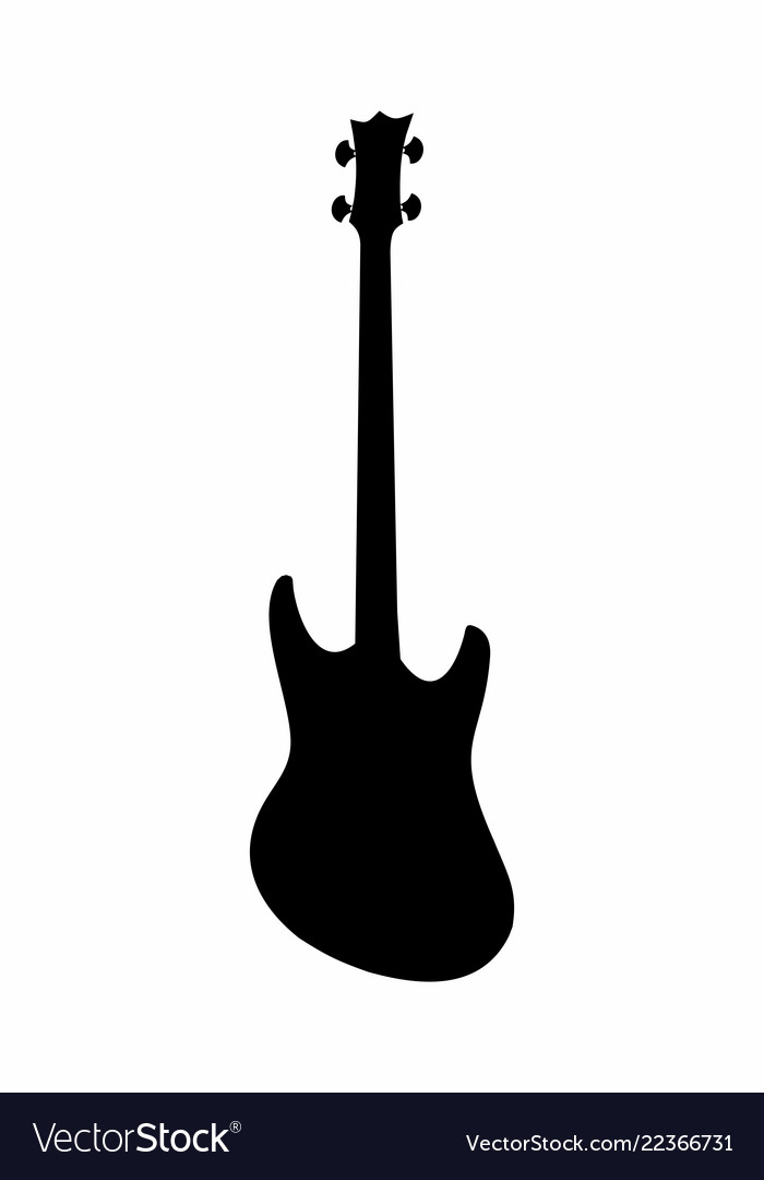 Bass guitar dark silhouette