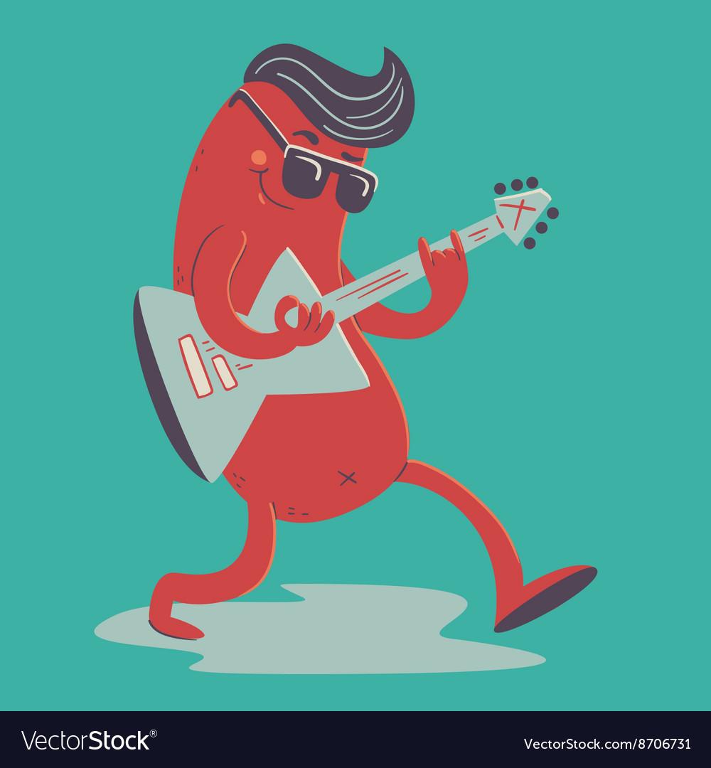 Crazy Sausage Playing Electric Guitar