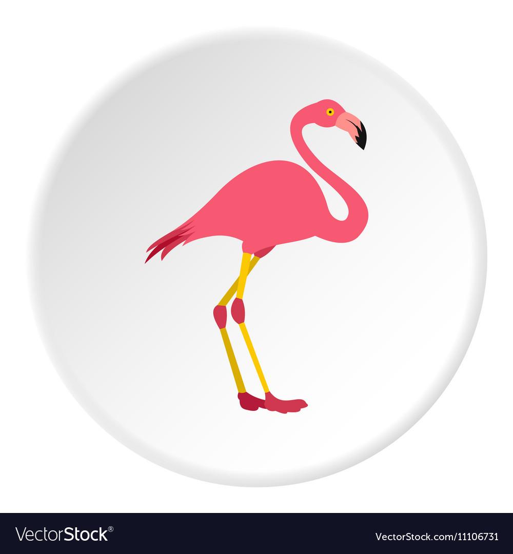 Flamingo icon flat style vector image