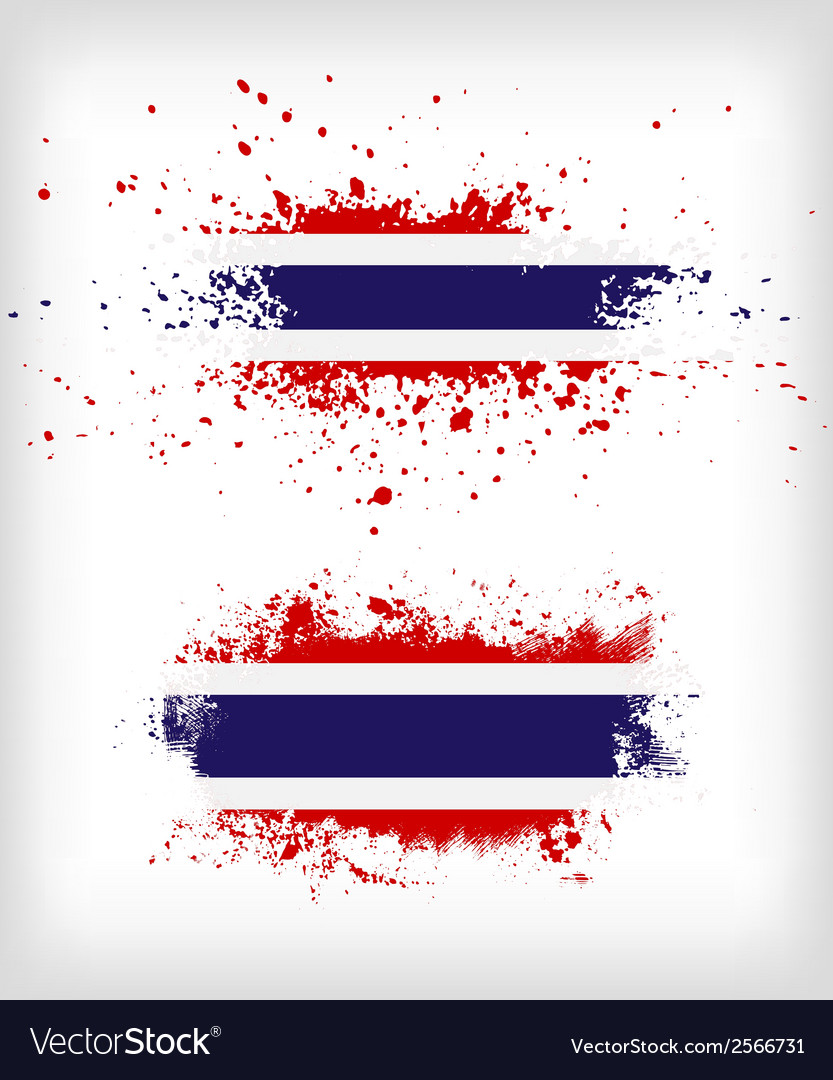 Grunge Thai ink splattered flag vector image