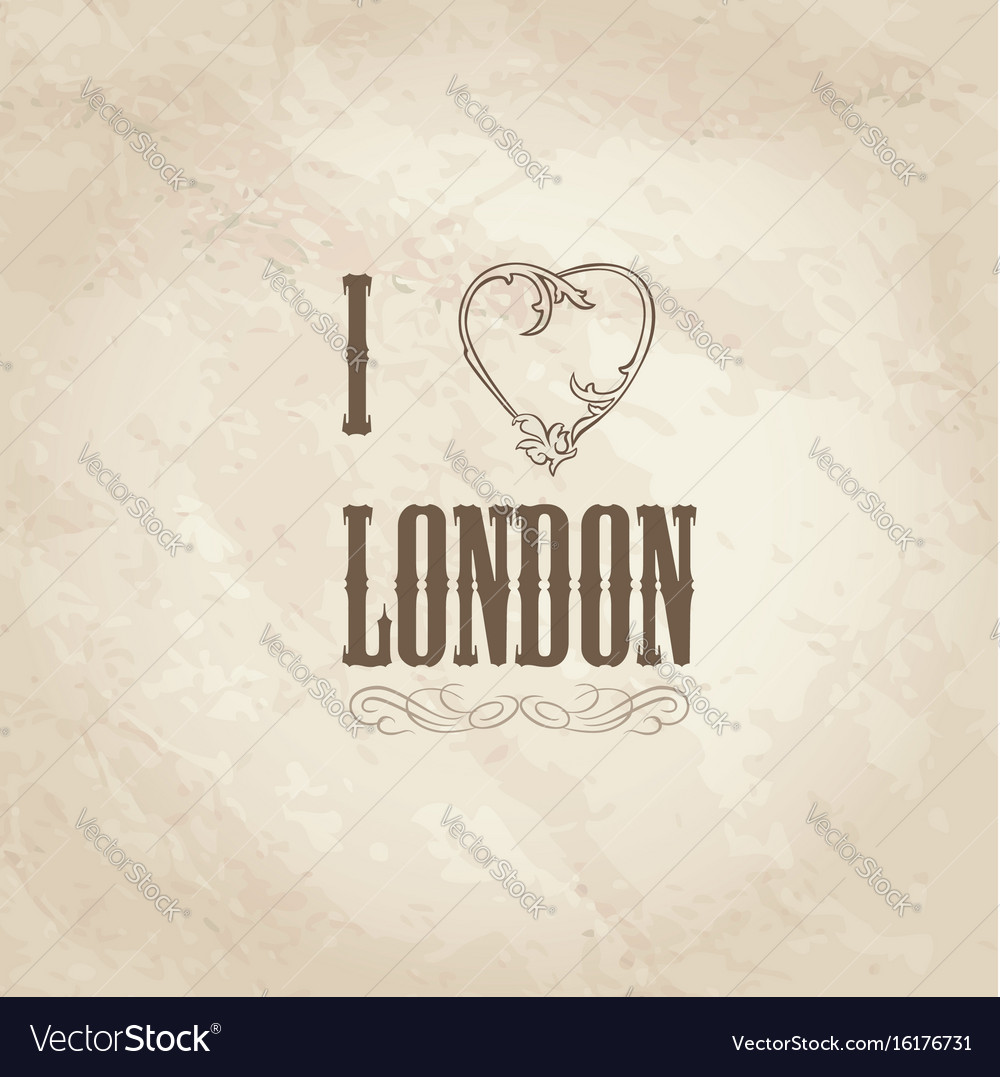I love london lettering with floral heart shape