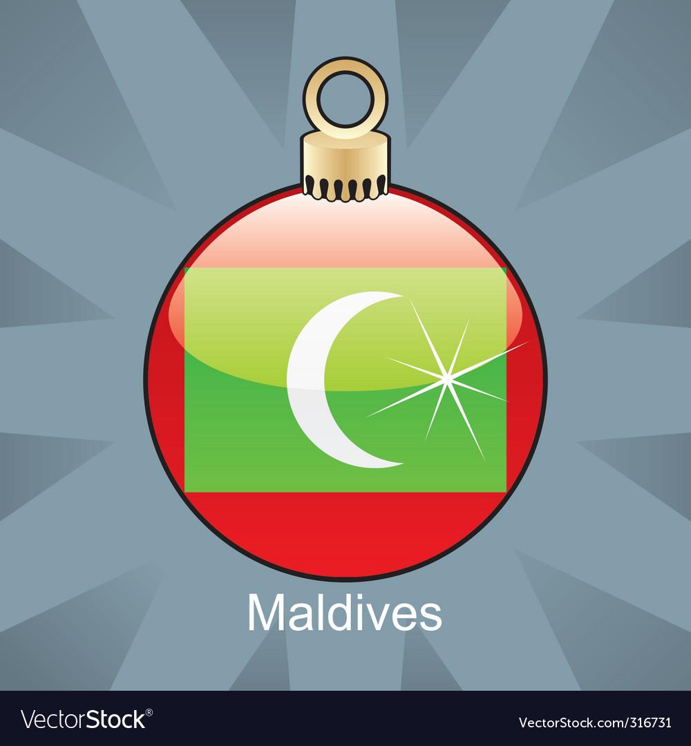 Maldives flag on bulb