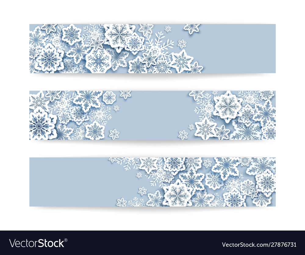 Merry christmas horizontal poster banner vector