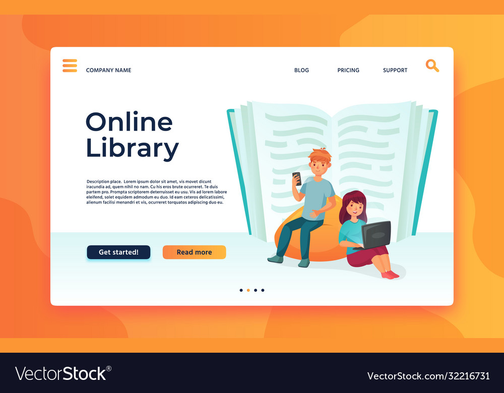 Online library or web archive digital education