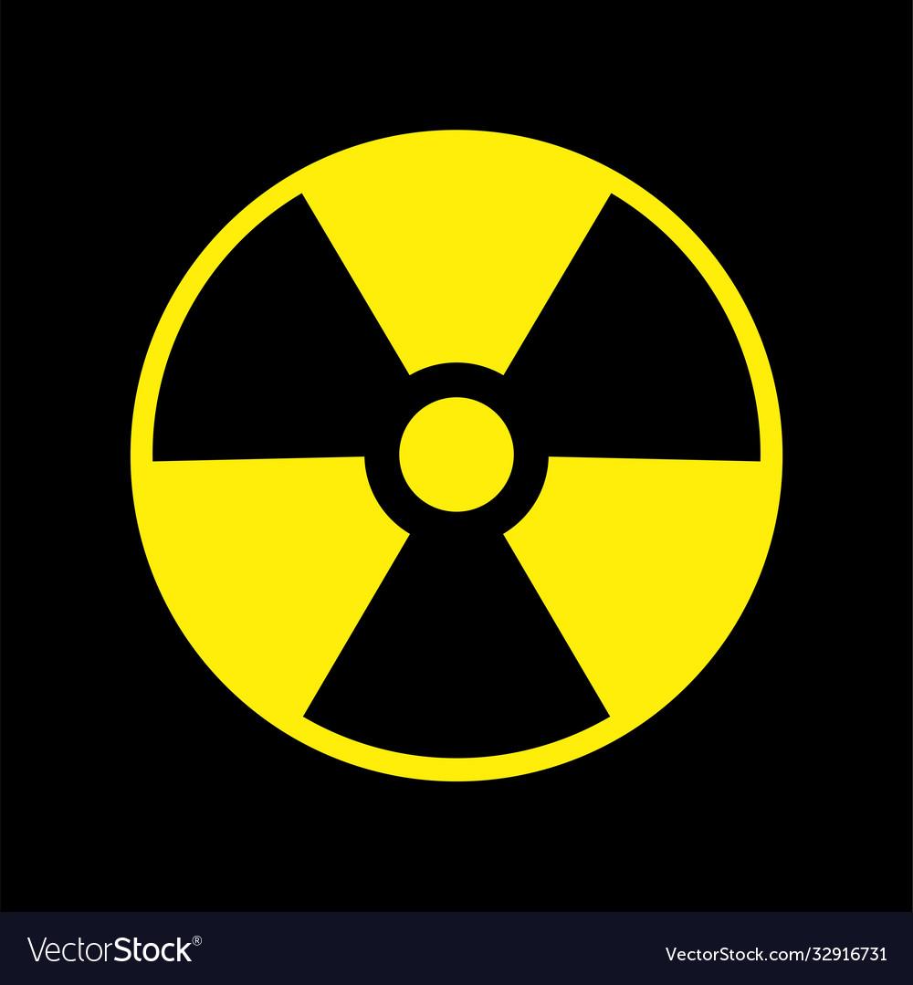 Radioactive nuclear danger warning symbol
