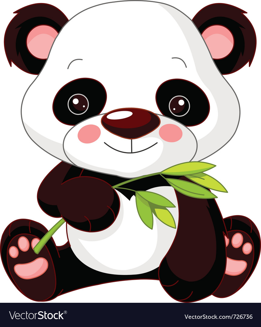 cartoon panda royalty free vector image vectorstock