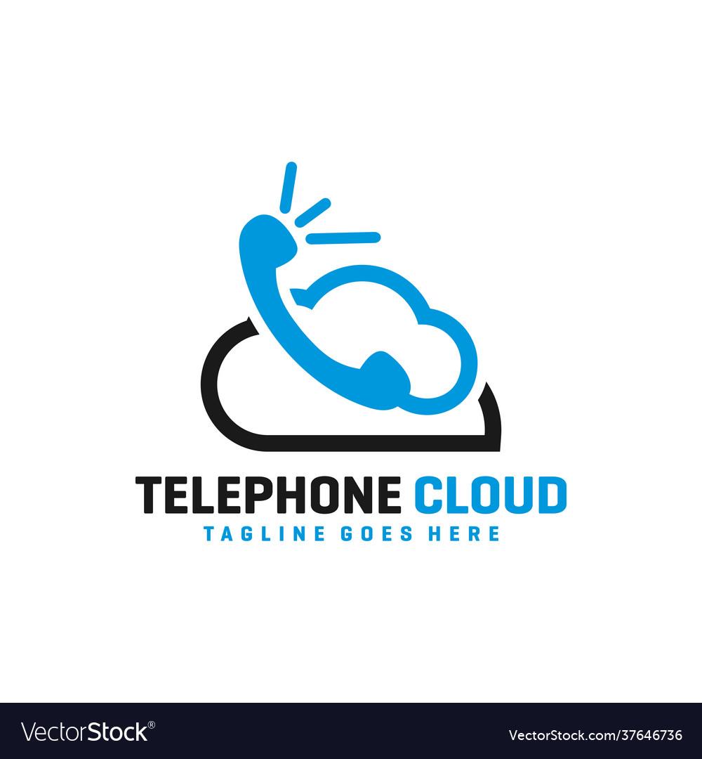 Cloud phone technology logo