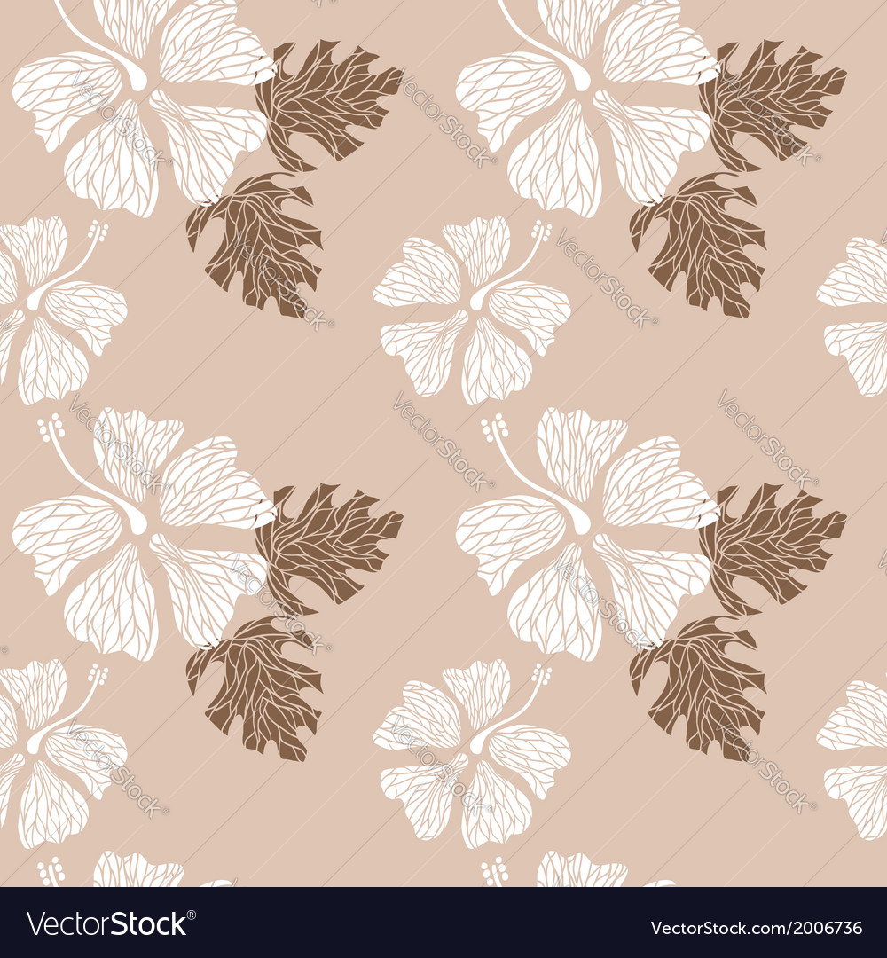 Hibiscus pattern nude