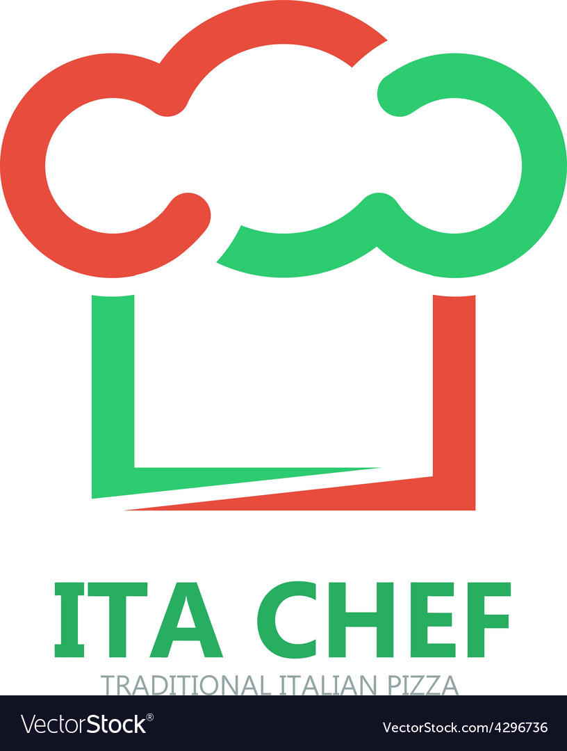 Italian chef logo or symbol icon vector image