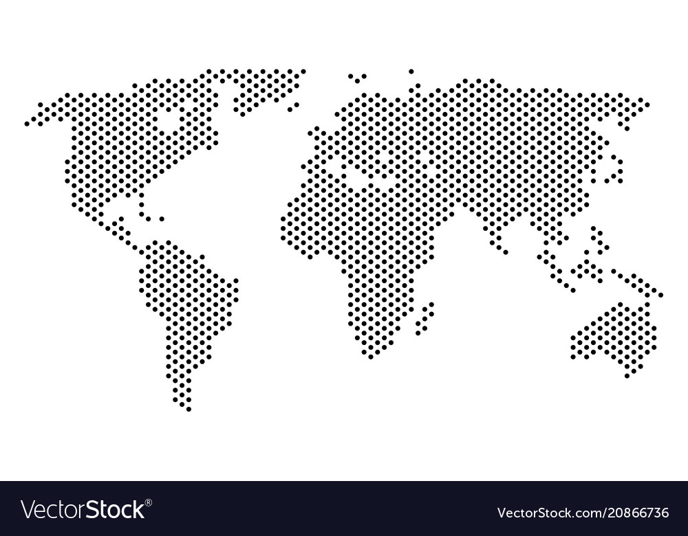 Pixel world map royalty free vector image vectorstock pixel world map vector image gumiabroncs Images